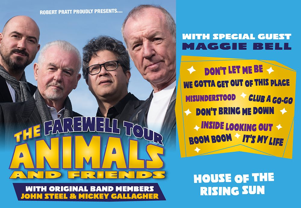 ANIMALS and FRIENDS FAREWELL TOUR with Special Guest Maggie Bell